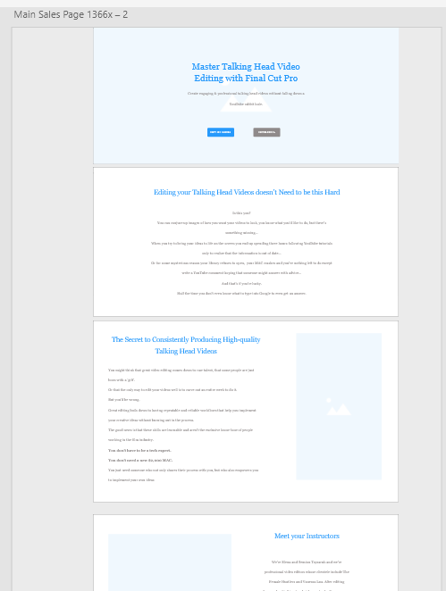 low fidelity wireframe of seo homepage copy done on adobe xd