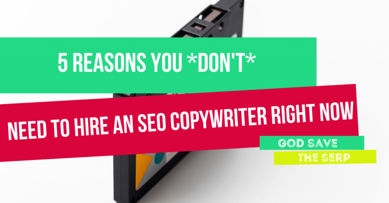 text overlay - why you don't need to hire an seo copywriter